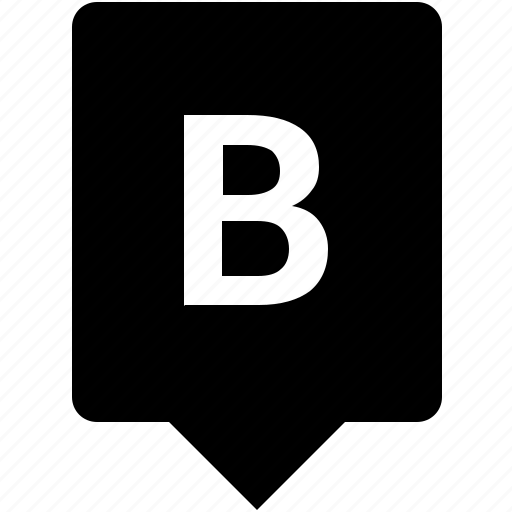 b, english, keyword, letter, mobile, uppercase icon