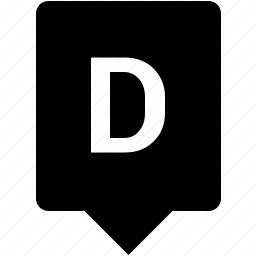 d, english, keyword, letter, mobile, uppercase icon