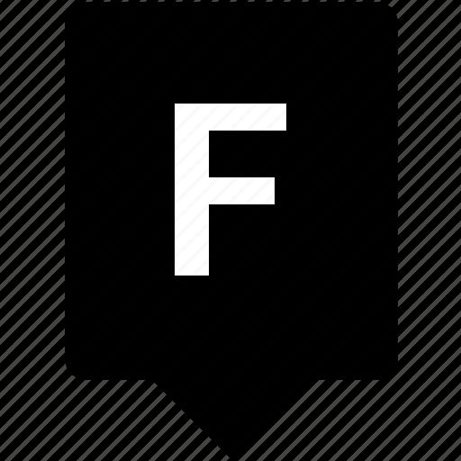 english, f, keyword, letter, mobile, uppercase icon