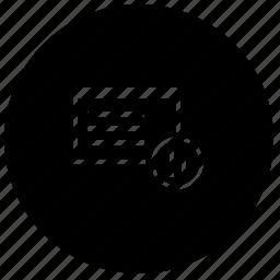 application, pause, program, round, window icon