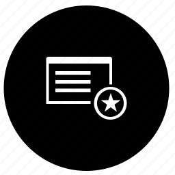 application, favorite, program, round, star, window icon