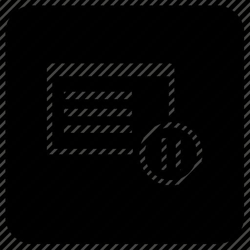application, pause, process, program, window icon