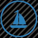 boat, ocean, salor, sea, tourism, trip, yahting icon