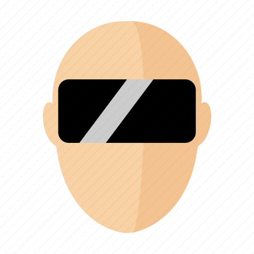 augmented, glasses, headset, man, reality, virtual, vr icon