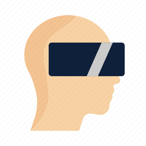 Augmented, glasses, headset, man, reality, virtual, vr icon - Download on Iconfinder