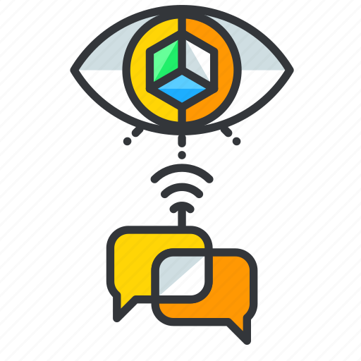 Communication, conversation, reality, virtual icon - Download on Iconfinder