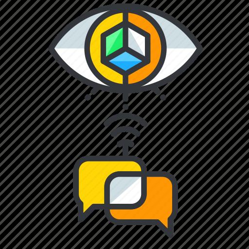 communication, conversation, reality, virtual icon