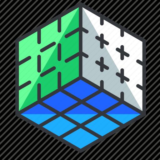 cube, reality, virtual, vr icon