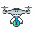 alert, drone, warning icon