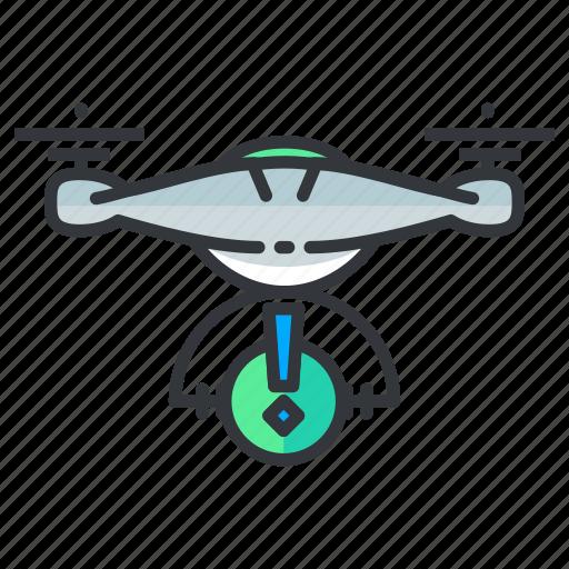 Alert, drone, warning icon - Download on Iconfinder