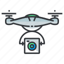 cam, camera, drone icon