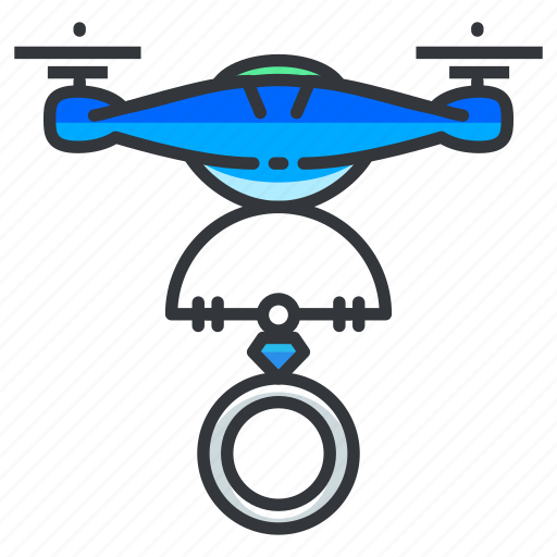 Drone, engagement, ring icon - Download on Iconfinder