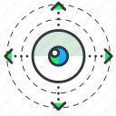 eyeball, reality, virtual, vision icon