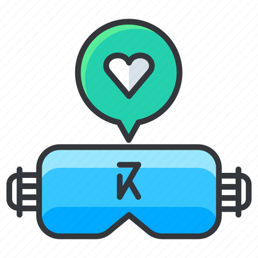 favorite, glasses, reality, virtual icon