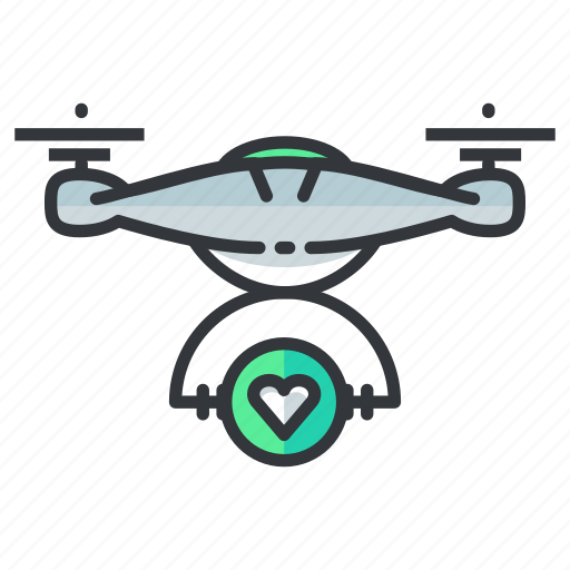 delivery, drone, favorite icon