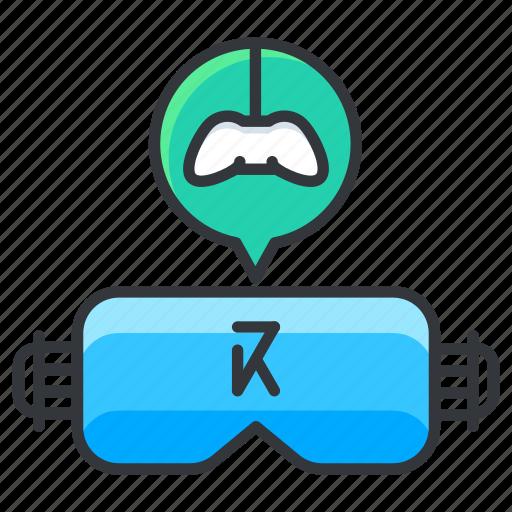 gamepad, glasses, reality, virtual icon