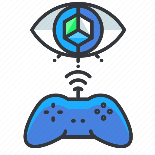 controller, gamepad, reality, virtual icon