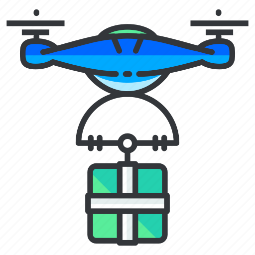 delivery, drone, gift icon