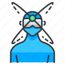 goggles, reality, view, virtual icon