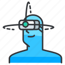 cam, goggles, reality, virtual icon