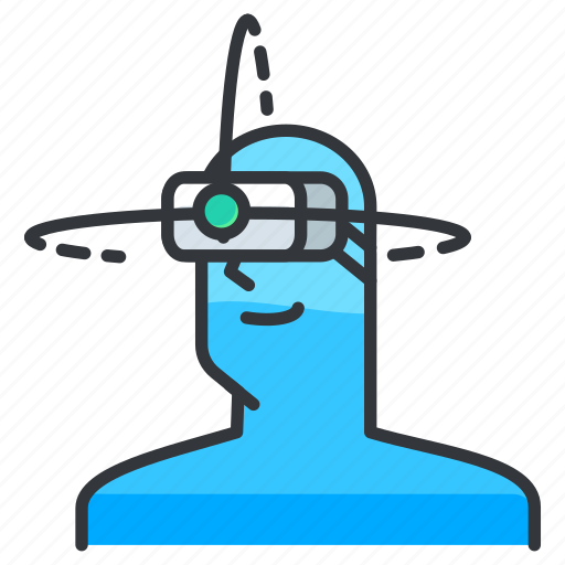 cam, goggles, reality, virtual icon