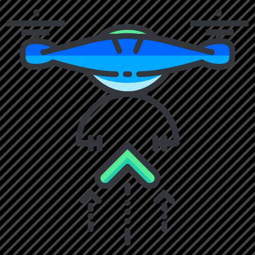 drone, lift, off icon