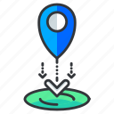 drop, location, navigation icon