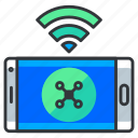 connection, mobile, phone, wireless icon