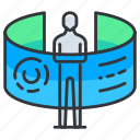 organization, vr, virtual, reality icon