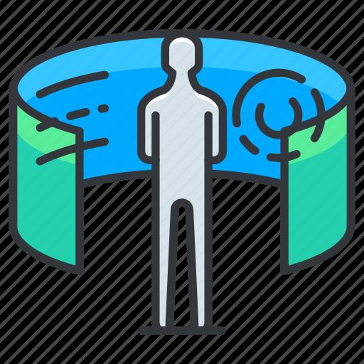 organization, reality, virtual, vr icon
