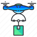 delivery, drone, package icon