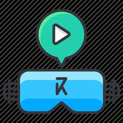 glasses, play, reality, virtual icon