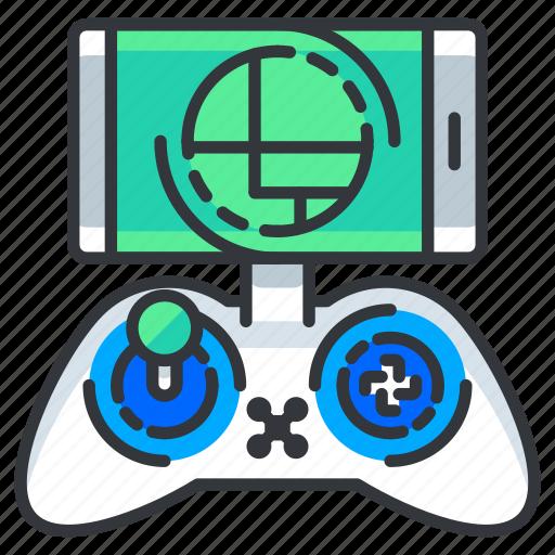 control, mobile, phone, remote icon