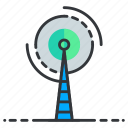 network, satellite, signal, tower icon