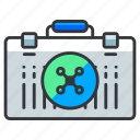briefcase, drone, suitcase icon