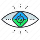 eye, reality, virtual, vision icon