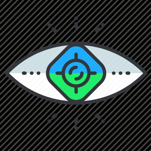 eye, reality, virtual, vision icon