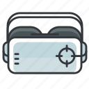 glasses, goggles, vr icon
