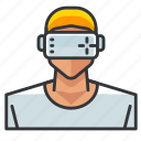 goggles, man, vr icon