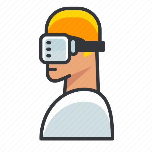 Goggles, man, reality, virtual, vr icon - Download on Iconfinder