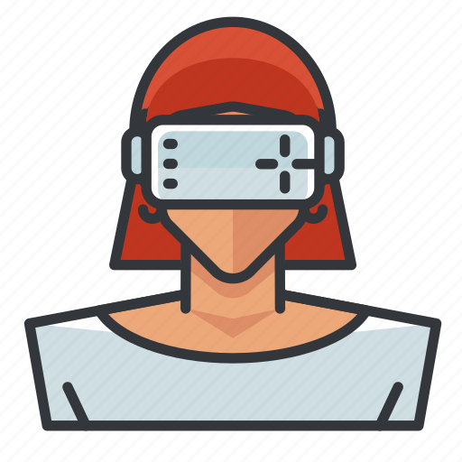 Goggles, vr, woman icon - Download on Iconfinder