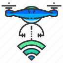 connection, drone, wireless icon