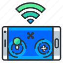 control, mobile, phone, remote, wireless icon