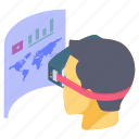 augmented reality, gadget, oculus, oculus rift, virtual augmented reality, vr glasses, vr headset icon