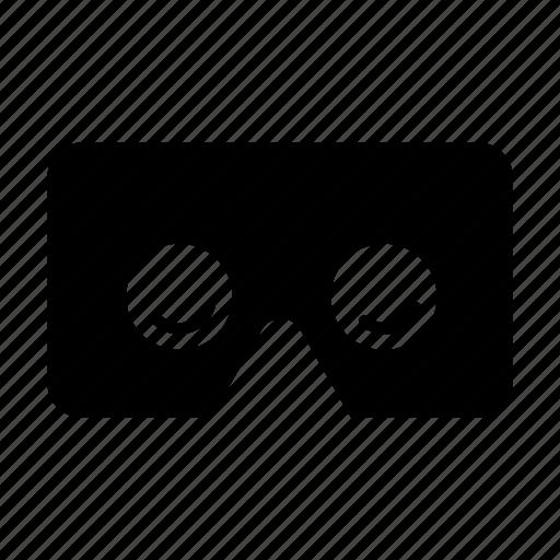 glasses, google cardboard, virtual reality, vr goggles icon
