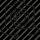 angle, camera, lens, rotate icon