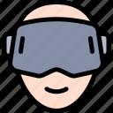 goggles, vr icon