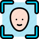 face, scanner icon