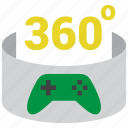 360, controller, gamepad, gaming icon