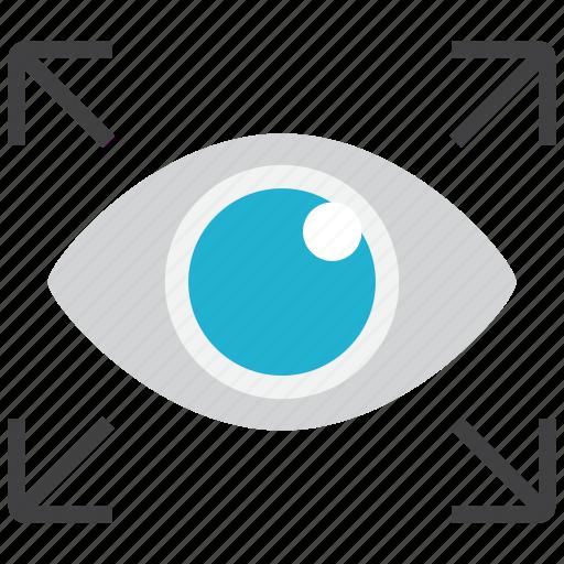 expand, eyes, eyesight, vision icon